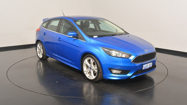 Used Ford Focus LZ Titanium, 2015 Ford Focus LZ Titanium Blue 6 Speed Automatic Hatchback
