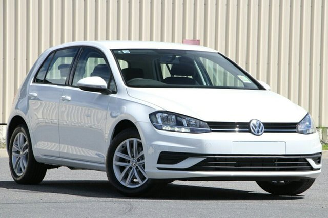 New Volkswagen Golf 7.5 MY18 110TSI DSG, 2017 Volkswagen Golf 7.5 MY18 110TSI DSG Pure White 7 Speed Sports Automatic Dual Clutch Hatchback