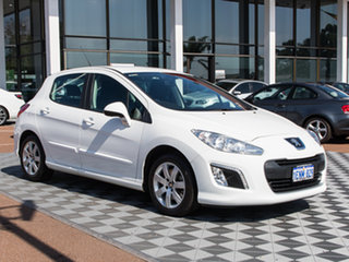 2013 Peugeot 308 T7 MY13 Style White 6 Speed Sports Automatic Hatchback.