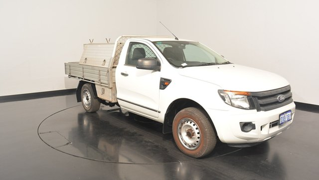 Used Ford Ranger PX XL 4x2, 2012 Ford Ranger PX XL 4x2 Cool White 5 Speed Manual Cab Chassis