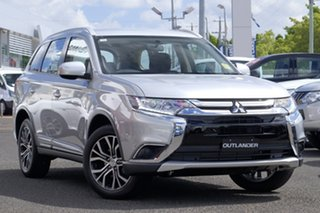 2017 Mitsubishi Outlander ZL MY18.5 ES 2WD Sterling Silver 6 Speed Constant Variable Wagon.