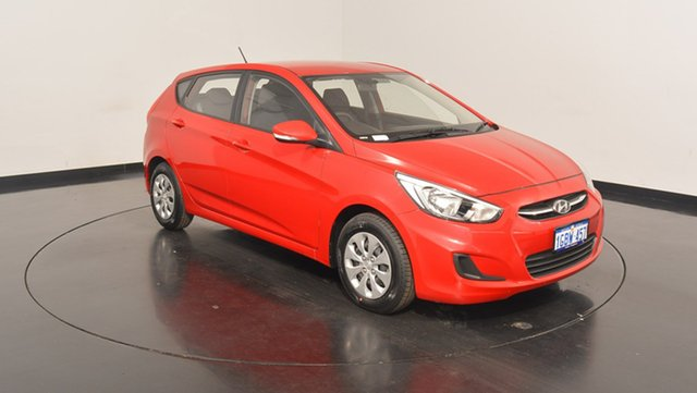 Used Hyundai Accent RB4 MY17 Active, 2016 Hyundai Accent RB4 MY17 Active Veloster Red 6 Speed Constant Variable Hatchback