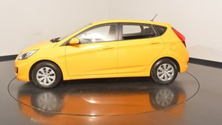 2016 Hyundai Accent RB4 MY17 Active Sunflower 6 Speed Constant Variable Hatchback.