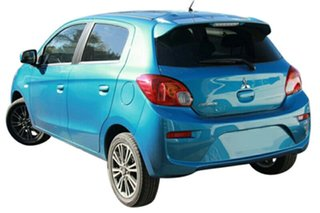 2019 Mitsubishi Mirage LA MY19 LS Cyber Blue Continuous Variable Hatchback.