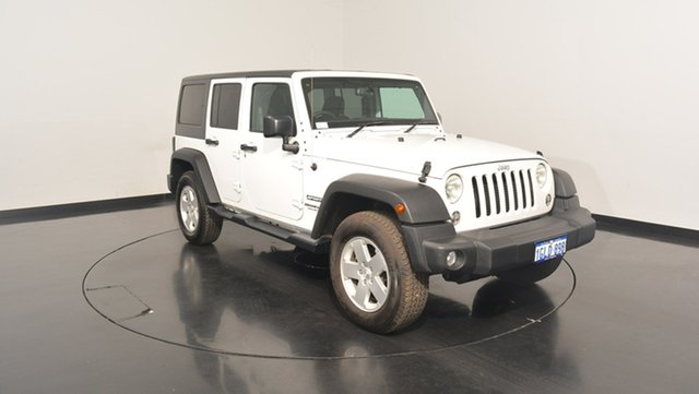 Used Jeep Wrangler JK MY17 Unlimited Sport, 2017 Jeep Wrangler JK MY17 Unlimited Sport White 5 Speed Automatic Softtop