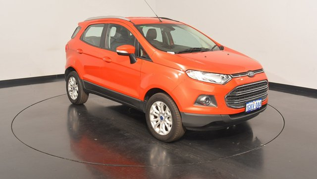 Used Ford Ecosport BK Titanium PwrShift, 2016 Ford Ecosport BK Titanium PwrShift Red 6 Speed Sports Automatic Dual Clutch Wagon