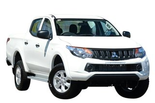 2018 Mitsubishi Triton GLX+ White 5 Speed Automatic.