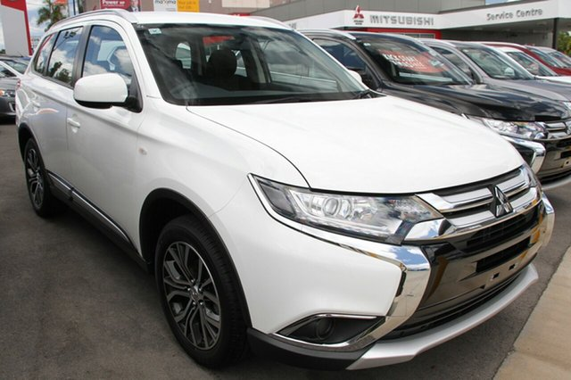 New Mitsubishi Outlander ZL MY18.5 ES 7 Seat (2WD), 2017 Mitsubishi Outlander ZL MY18.5 ES 7 Seat (2WD) White Continuous Variable Wagon