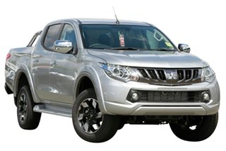 2018 Mitsubishi Triton MQ MY18 Exceed Double Cab Sterling Silver 5 Speed Sports Automatic Utility.