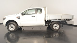 2013 Ford Ranger PX XL Super Cab White 6 Speed Manual Cab Chassis.