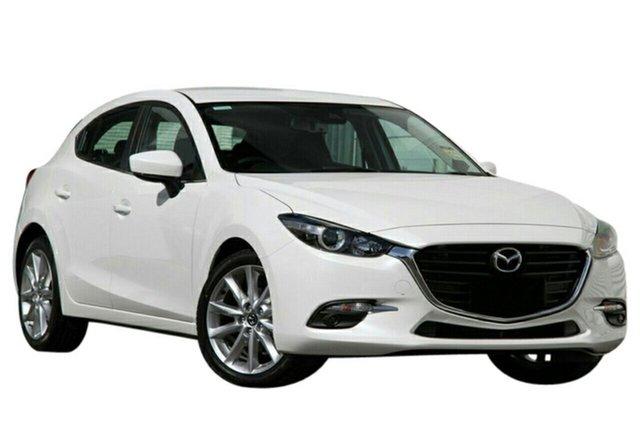 New Mazda 3 BN5438 SP25 SKYACTIV-Drive, 2018 Mazda 3 BN5438 SP25 SKYACTIV-Drive Snowflake White 6 Speed Sports Automatic Hatchback
