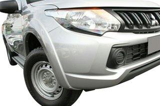 2017 Mitsubishi Triton MQ MY18 GLX Double Cab Sterling Silver 6 Speed Manual Utility.