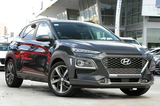 New Hyundai Kona OS.3 MY20 Highlander D-CT AWD Victoria Park, 2020 Hyundai Kona OS.3 MY20 Highlander D-CT AWD Dark Knight 7 Speed Sports Automatic Dual Clutch