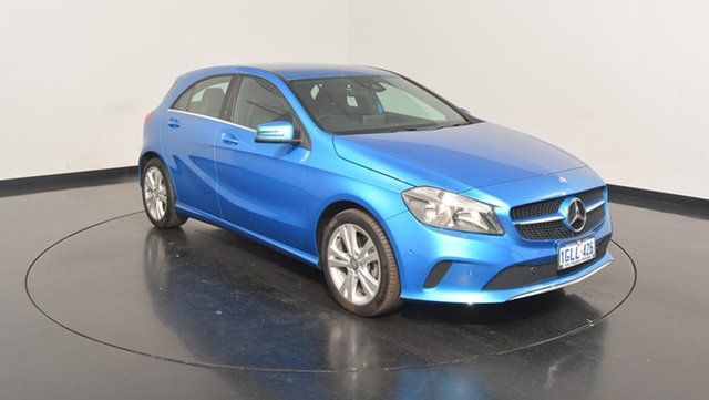 Used Mercedes-Benz A180 W176 807MY D-CT, 2016 Mercedes-Benz A180 W176 807MY D-CT Blue 7 Speed Sports Automatic Dual Clutch Hatchback