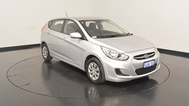 Used Hyundai Accent RB4 MY16 Active, 2016 Hyundai Accent RB4 MY16 Active Sleek Silver 6 Speed Constant Variable Hatchback
