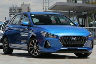 2018 Hyundai i30 PD2 MY18 Elite Stargazing Blue 6 Speed Sports Automatic Hatchback.