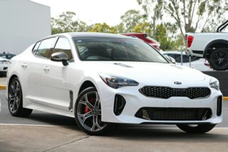 2019 Kia Stinger CK MY20 GT Fastback Snow White Pearl 8 Speed Sports Automatic Sedan.