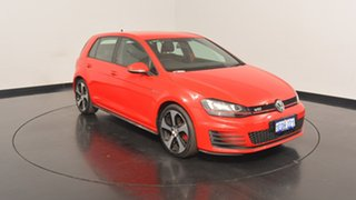 2014 Volkswagen Golf VII MY14 GTI DSG Red 6 Speed Sports Automatic Dual Clutch Hatchback.