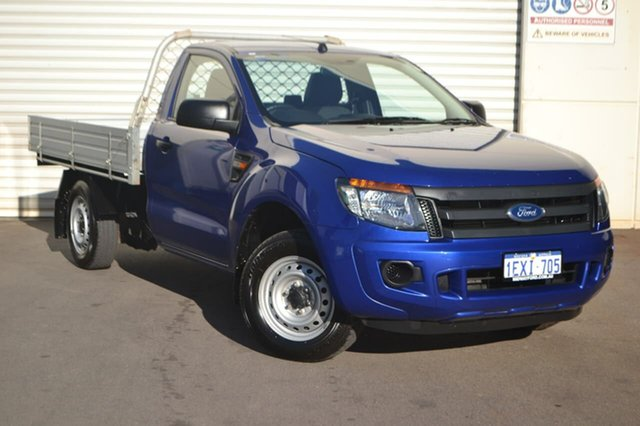 Used Ford Ranger PX XL 4x2, 2015 Ford Ranger PX XL 4x2 Blue 6 Speed Manual Cab Chassis