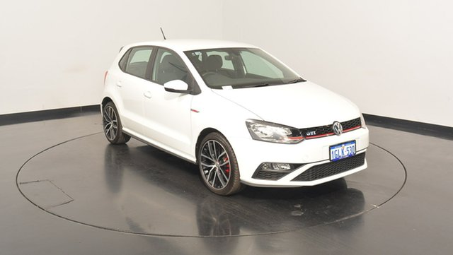 Used Volkswagen Polo 6R MY17 GTI DSG, 2017 Volkswagen Polo 6R MY17 GTI DSG Pure White 7 Speed Sports Automatic Dual Clutch Hatchback