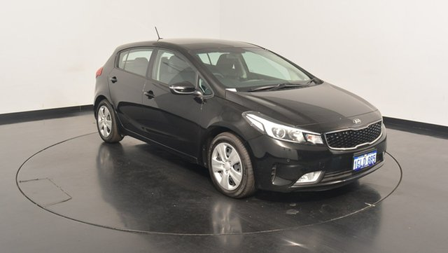 Used Kia Cerato YD MY17 S, 2017 Kia Cerato YD MY17 S Aurora Black 6 Speed Sports Automatic Hatchback