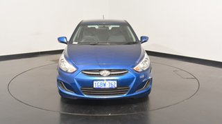 2016 Hyundai Accent RB4 MY16 Active Dazzling Blue 6 Speed Constant Variable Hatchback