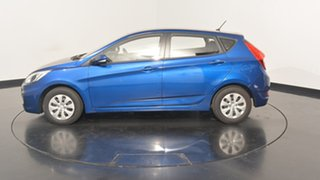 2016 Hyundai Accent RB4 MY16 Active Dazzling Blue 6 Speed Constant Variable Hatchback.