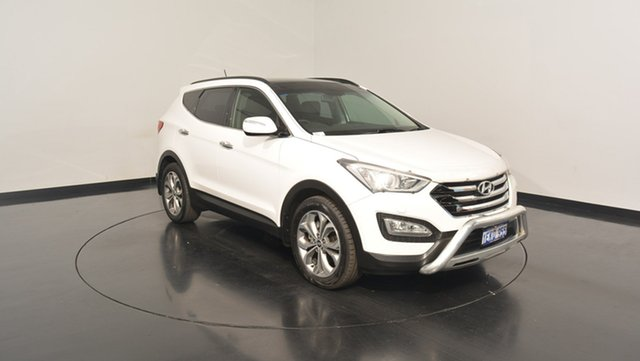 Used Hyundai Santa Fe DM MY14 Highlander, 2014 Hyundai Santa Fe DM MY14 Highlander White 6 Speed Sports Automatic Wagon