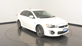 2016 Mitsubishi Lancer CF MY16 GSR Sportback White 6 Speed Constant Variable Hatchback.