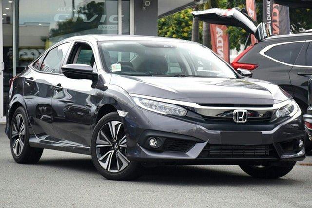 New Honda Civic 10th Gen MY19 VTi-LX, 2019 Honda Civic 10th Gen MY19 VTi-LX Modern Steel 1 Speed Constant Variable Sedan