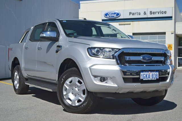 Demo Ford Ranger PX MkII XLT Double Cab, 2017 Ford Ranger PX MkII XLT Double Cab Silver 6 Speed Sports Automatic Utility