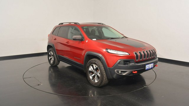 Used Jeep Cherokee KL MY16 Trailhawk, 2015 Jeep Cherokee KL MY16 Trailhawk Deep Cherry Red Pearl 9 Speed Sports Automatic Wagon