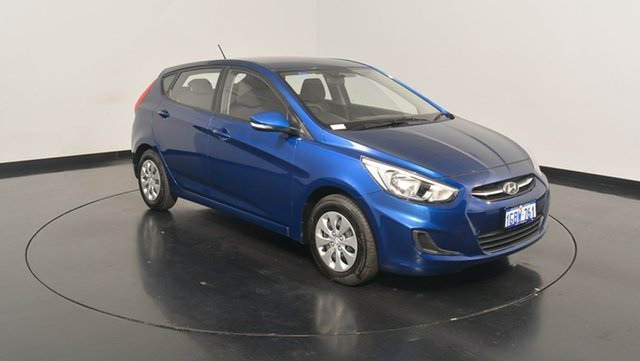 Used Hyundai Accent RB4 MY16 Active, 2016 Hyundai Accent RB4 MY16 Active Dazzling Blue 6 Speed Constant Variable Hatchback
