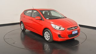 2016 Hyundai Accent RB4 MY17 Active Veloster Red 6 Speed Manual Hatchback.