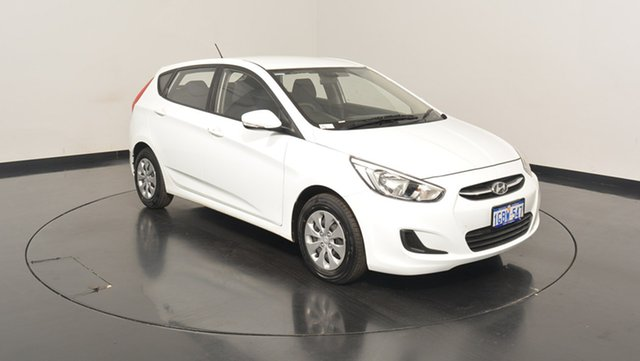 Used Hyundai Accent RB4 MY17 Active, 2016 Hyundai Accent RB4 MY17 Active Crystal White 6 Speed Constant Variable Hatchback