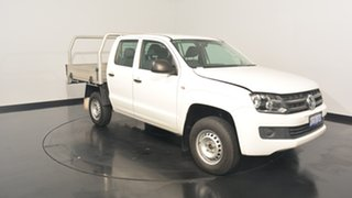 2015 Volkswagen Amarok 2H MY15 TDI420 White 8 Speed Automatic Cab Chassis.