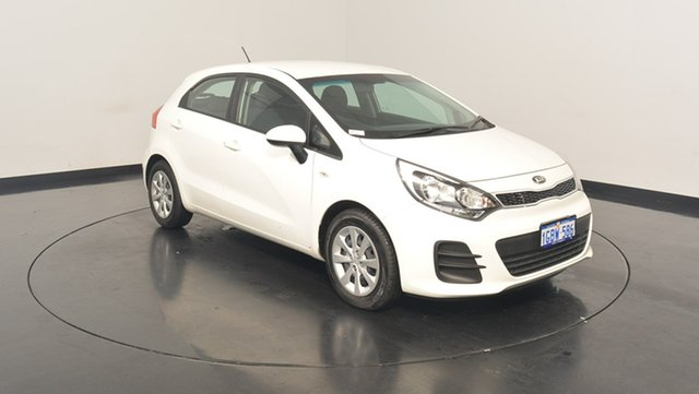 Used Kia Rio UB MY16 S, 2016 Kia Rio UB MY16 S Clear White 6 Speed Manual Hatchback