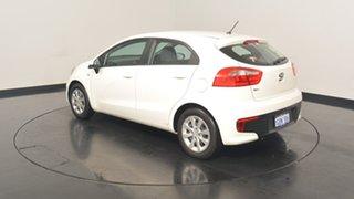 2016 Kia Rio UB MY16 S Clear White 6 Speed Manual Hatchback.