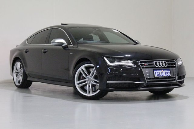 Used Audi S7 4G MY14 Sportback 4.0 TFSI LE, 2014 Audi S7 4G MY14 Sportback 4.0 TFSI LE Black 7 Speed Auto Direct Shift Hatchback