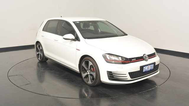 Used Volkswagen Golf VII MY17 GTI DSG, 2017 Volkswagen Golf VII MY17 GTI DSG Pure White 6 Speed Sports Automatic Dual Clutch Hatchback