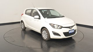 2015 Hyundai i20 PB MY15 Active White 6 Speed Manual Hatchback.