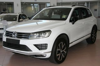 2018 Volkswagen Touareg 7P MY18 Monochrome Tiptronic 4MOTION Pure White 8 Speed Sports Automatic.