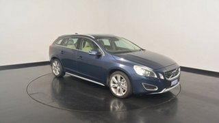 2013 Volvo V60 F Series MY13 T6 Geartronic AWD Dark Blue 6 Speed Sports Automatic Wagon