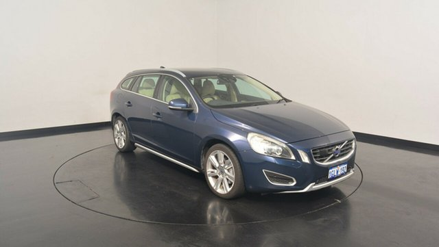 Used Volvo V60 F Series MY13 T6 Geartronic AWD, 2013 Volvo V60 F Series MY13 T6 Geartronic AWD Dark Blue 6 Speed Sports Automatic Wagon