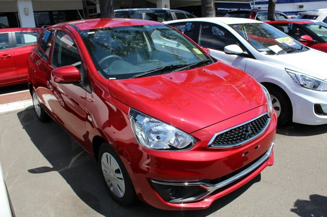 Used Mitsubishi Mirage LA MY17 ES, 2017 Mitsubishi Mirage LA MY17 ES Red Planet 1 Speed Constant Variable Hatchback