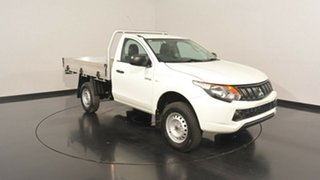 2017 Mitsubishi Triton MQ MY17 GLX White 5 Speed Manual Cab Chassis.