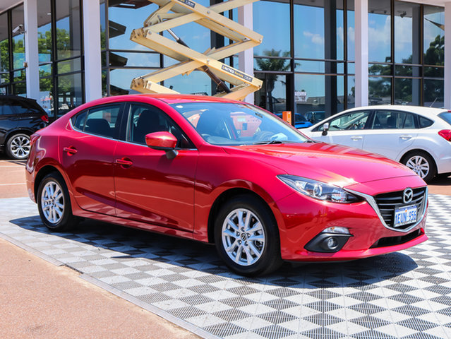 Used Mazda 3 BM5278 Maxx SKYACTIV-Drive, 2015 Mazda 3 BM5278 Maxx SKYACTIV-Drive Red 6 Speed Sports Automatic Sedan