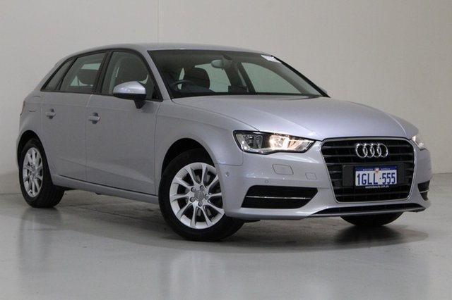 Used Audi A3 8V MY15 Sportback 1.4 TFSI Attraction, 2015 Audi A3 8V MY15 Sportback 1.4 TFSI Attraction Silver 7 Speed Auto Direct Shift Hatchback