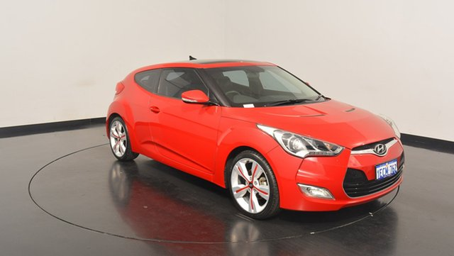 Used Hyundai Veloster FS + Coupe D-CT, 2012 Hyundai Veloster FS + Coupe D-CT Red 6 Speed Sports Automatic Dual Clutch Hatchback