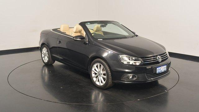Used Volkswagen EOS 1F MY12 155TSI DSG, 2011 Volkswagen EOS 1F MY12 155TSI DSG Deep Black 6 Speed Sports Automatic Dual Clutch Convertible